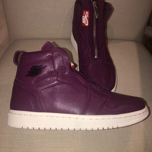 Nike Air Jordan Women's High Zip Bordeaux Sneakers